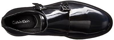 Calvin Klein Men's Damire Faux-Patent Leather Monk Strap Shoe