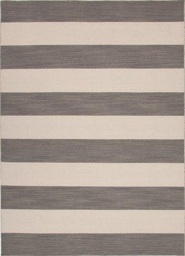 Jaipur Pura Vida Tierra Flat Weave Stripe Pattern Wool Handmade Rug