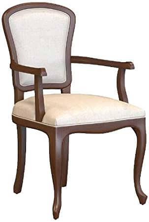 Selva SPA Epoca Mirabeau 8029853000526 Wood Armchair Classic and Elegant with Walnut Finish, 54 x 61/ 96/ 51 cm, Brown
