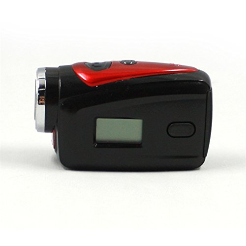 Fnkaf Lcd Display Three Digital¡°888+Icon¡± Monochrome Lcd Display Sports Waterproof Camera Red