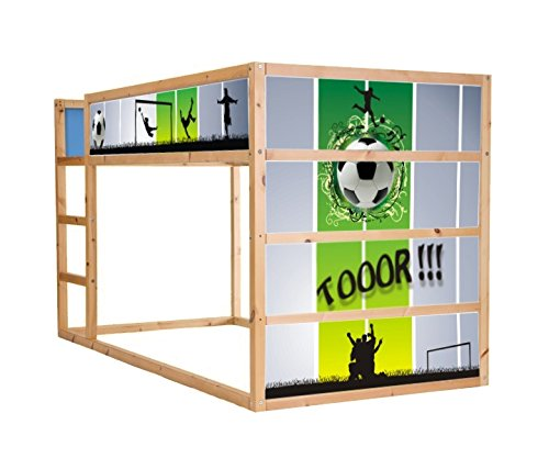 fussball m belsticker aufkleber f r das kinderzimmer hochbett kura von ikea im05. Black Bedroom Furniture Sets. Home Design Ideas