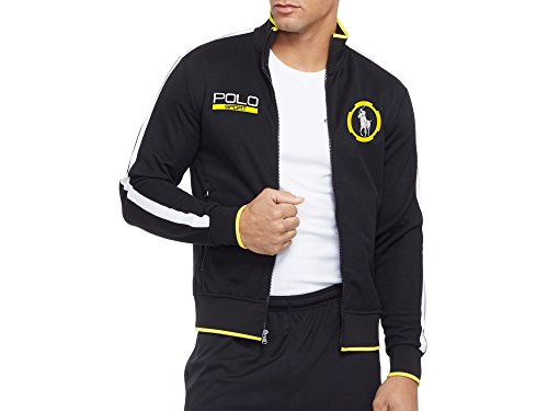 POLO by Ralph Lauren Men's POLO SPORT Cotton-blend Piqué TRACK JACKET (Black) - L