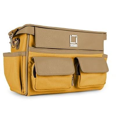 Lencca Camera Bag - MUSTARD YELLOW & COOL CAMEL Compact DSLR Case fits Canon Rebel EOS T5i / T4i / T2i / T1i