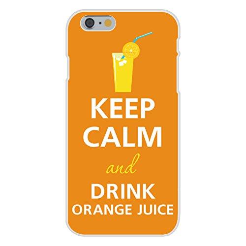 Apple Iphone 6 Custom Case White Plastic Snap On - Keep Calm And Drink Orange Juice