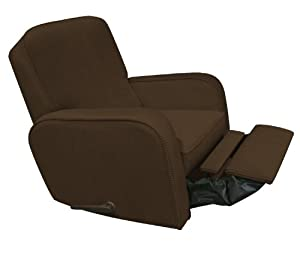 The Rockabye Glider Sunny Recliner, Chenille Chocolate Brown