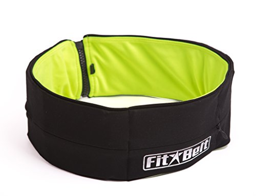 FitBelt - Premium Running Belt & Fitness workout belt for women and men - 2-IN-1 colors flipbelt + 2 Free Gifts - Lock laces for shoes & PVC mesh bag for your Apple iPhone 6 - LIMITTED TIME OFFER!