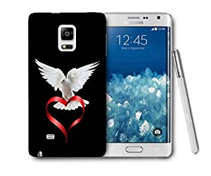 Snoogg Peace Of Heart Printed Protective Phone Back Case Cover For Samsung Galaxy NOTE EDGE