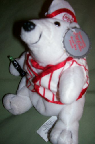 Coca Cola Polar Bear in Soda Fountain Outfit (Coca Cola Plush Bear compare prices)