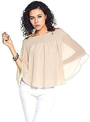 Off shoulder polyester top