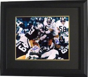 LC Greenwood signed Pittsburgh Steelers 16x20 Photo 4 sig Color Action Custom Framed at Amazon.com