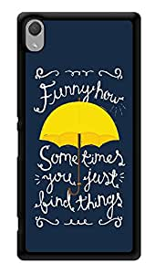 "Humor Gang Funny How You Just Find Things - How I Met Your Mother Quote Printed Designer Mobile Back Cover For ""Sony Xperia Z3 - Sony Xperia Z3 Plus"" (3D, Glossy, Premium Quality Snap On Case)"