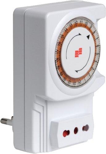 Interruttore giornaliero elettromeccanico Twinplug-D Vemer VJ63050000 Orologio a spina elettromeccanico adatto per la gestione di piccole utenze quali luci ed elettrodomestici in genere Quadrante con cavalieri imperdibili