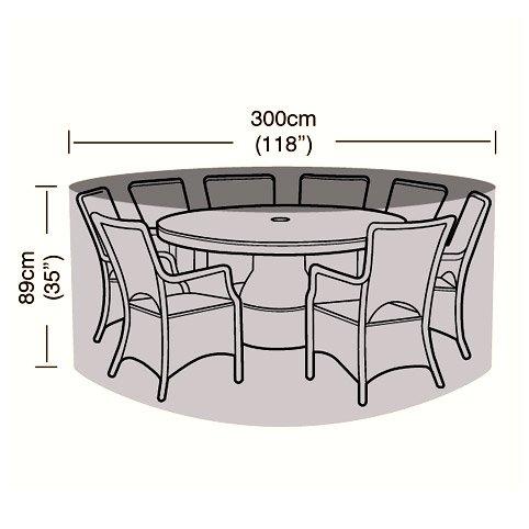 Gartenmöbel-Set für 8 Personen, rund, 300 cm jetzt bestellen