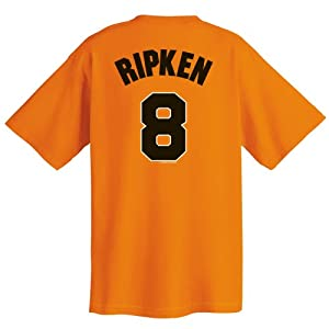 Cal Ripken Baltimore Orioles Cooperstown Name and Number T-Shirt, Orange by Majestic