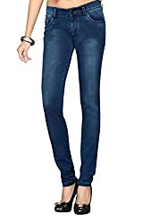 Dragaon Women's Stretchable Skinny Fit Jeans-Blue-D-5318-Size-32