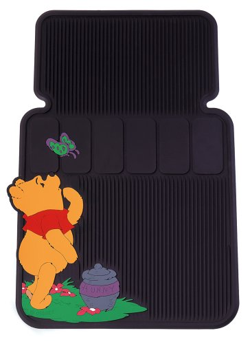 Winnie The Pooh And Butterfly Universal-Fit Molded Front Floor Mats - Set of 2 (Pooh Car Mats compare prices)