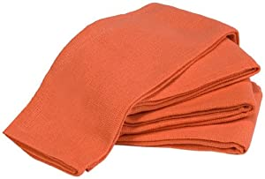 """Towels by Doctor Joe Orange 16"""" x 25"""" New Surgical Huck Towel, Pack of 12"""