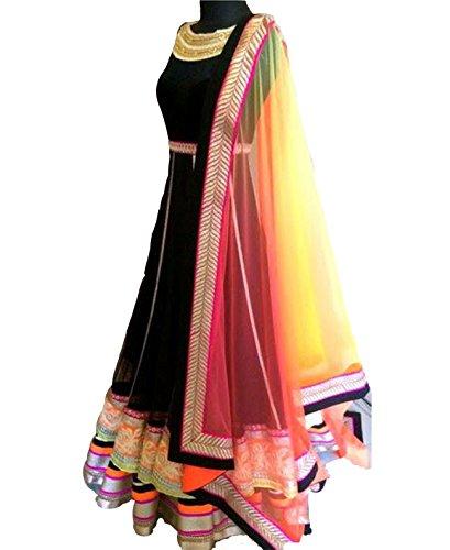 Filmlion-Heavy-Designer-Black-Gown-Type-Semi-Stitched-Anarkali-Suit