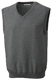 Cutter & Buck BCS01422 Mens Broadview V-Neck Vest, Charcoal Heather-2XT