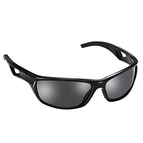 Gafas de sol ciclismo deportes,aurora polarizadas con TR90 OMorc marco irrompible para el esquí de conducción golf en ejecución