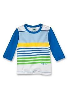 Sanetta - Sudadera de deporte a rayas con cuello redondo de manga larga para bebé