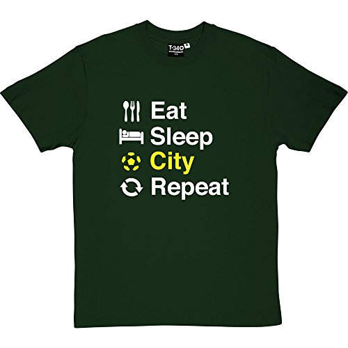 Eat Sleep Football Club tankards ripetizione di T-Shirt