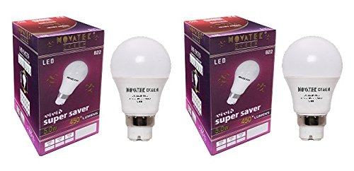 5W LED Bulbs (Cool White, Pack of 2)
