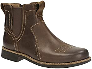 Clarks Mens Casual Meldon Mid Leather Boots In Brown