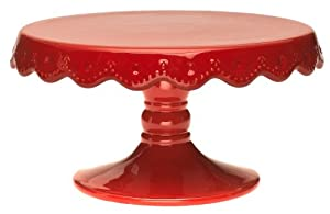 Signature Now & Then 9-inch Cake Stand, Red Pepper
