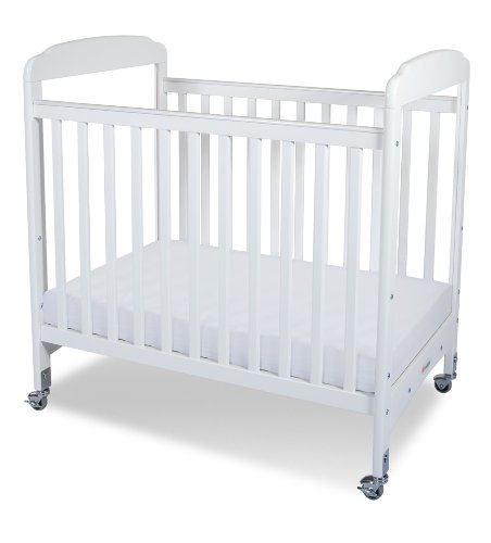 Foundations Serenity Compact Sized Clearview Crib, White - 1