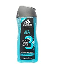 adidas Ice Dive 3Body Hair Face Marine Extract Refreshing, 250ml