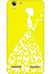 AMEZ designer printed 3d premium high quality back case cover for Lenovo Vibe K5 Plus (bright yellow white girl princess)