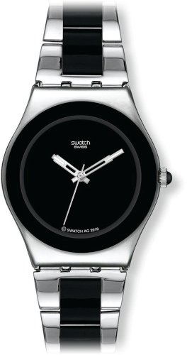 Swatch Ladies Watch Black Ceramic YLS168G