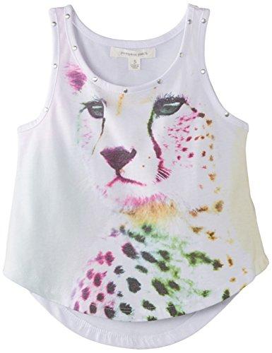 Pumpkin Patch Girls Cheetah Graphic T-Shirt, White, 5 Years