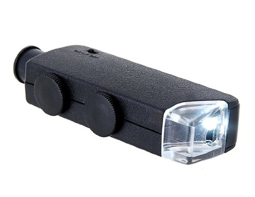 60~100X Mini Practical High Definition Microscope (Black)