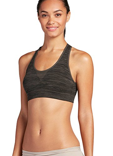 Jockey Women's Activewear Sporties Heathered Bralette, smoke grey, L