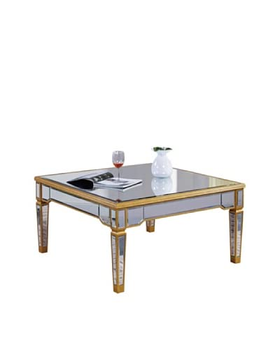 Florentine Coffee Table, Gold Leaf/Clear Mirror