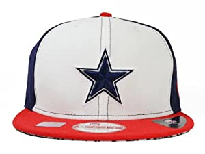 Dallas Cowboys JORDAN TRUE BLUE SNAPBACK 9Fifty New Era NFL Hat =Med Large by NFL