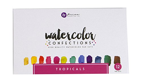 Prima Marketing Prima types de confiseries Aquarelle Aquarelle Poêles 1-tropicals