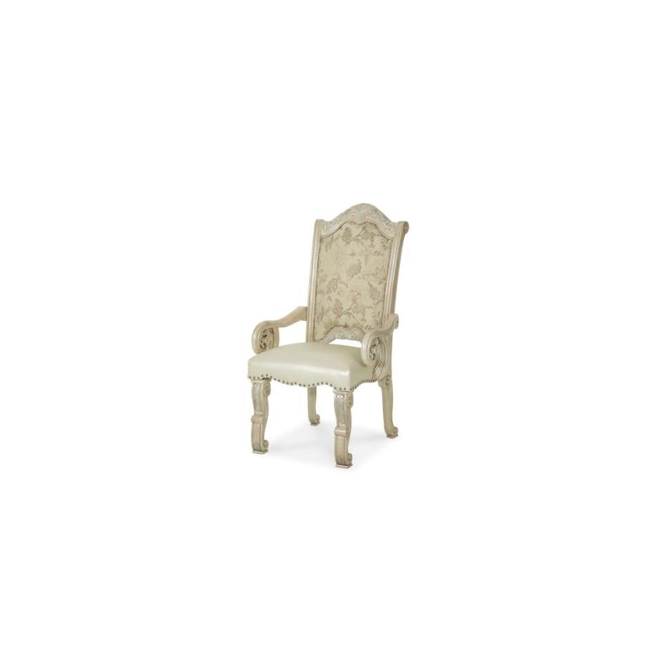 Aico Monte Carlo II Silver Pearl Fabric Back Arm Chair   N53444 03   Armchairs