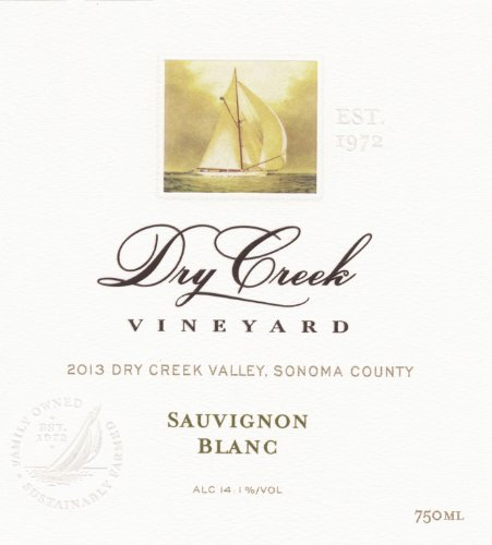 2013 Dry Creek Vineyard Sauvignon Blanc, Dry Creek Valley 750 Ml