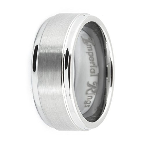 Tungsten Carbide Man's Wedding Band/Ring-Polished Bands for Men (9) (Imperial Ring Tungsten compare prices)