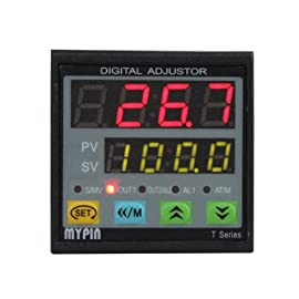Temperature Controller TD4-SNR And Solid State Relay SSR-25DA, Powered By 90-265V AC/DC, Comsumption: 5VA. DIN 1/16 (PID control)