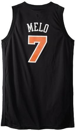 NBA New York Knicks Carmelo Anthony Black Swingman Jersey by adidas