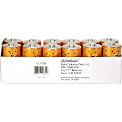 NABC UltraLast UL12CB Size C Alkaline General Purpose Battery - Alkaline - 1.5V DC