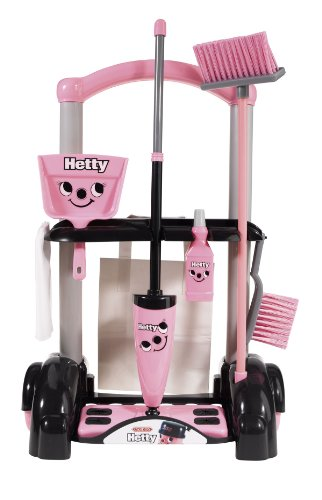 Casdon Hetty Cleaning Trolley (Pink And Black) (Red Trolley Toy compare prices)