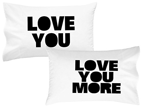 OH, SUSANNAH Love You Love You More Pillow Cases Luxury Soft Pillowcases You'll Love to Sleep on Wedding Engagement Gift Anniversary Gifts Birthday Presents for Couples (2 Top Quality Pillowcases) (Italian Hero Ring compare prices)