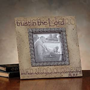 By Faith by Demdaco - Trust in the Lord Photo Frame - 61102