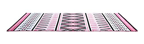CT RUGS Contemporary Moroccan Trellis Pink Area Rug 5'3''x7'7''