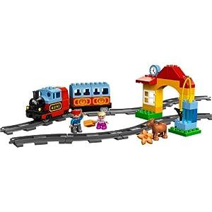 (历史最低) lego 乐高得宝 10507 火车入门套 $29.99